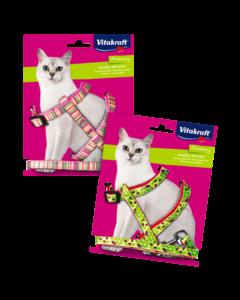 Produktbild: Katzengeschirr mit Leine, 27-46 cm, L
