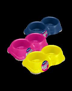 Produktbild: Doppel-Kunststoffnapf, Anti-Rutsch, 2 x 330 ml
