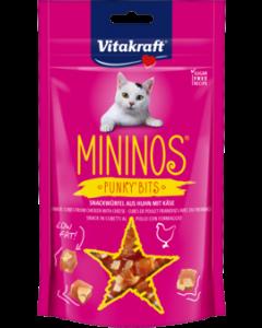 Produktbild: MININOS Punky Bits Snackwürfel aus Huhn + Käse