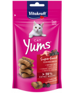 Produktbild: Cat Yums® Superfood Holunder + Ente