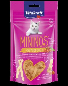 Produktbild: MININOS Superfood Hühnchenstreifen + Goji Beeren