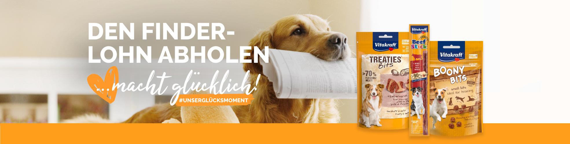 Hund bringt im Maul Zeitung   Produktabbildungen von Hundesnacks