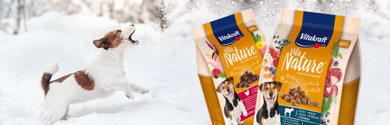 Produktabbildung Vita Nature® und Hund im Schnee
